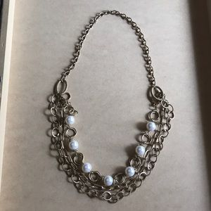NEW pearl and chain necklace